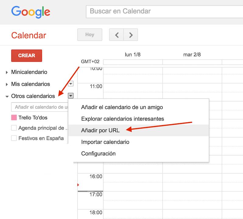 Sincronizar notas de Trello en Google Calendar